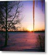 Winters Glow Metal Print