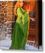 Winter's Last Rose Metal Print