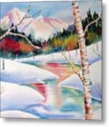 Winter's Light Metal Print by Deborah Ronglien