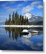 Winters Mirror Metal Print