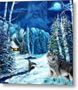 Winters Night 2 Metal Print