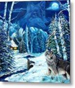 Winters Night 2 Metal Print by Darlene Green