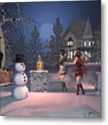 Winters Night Metal Print