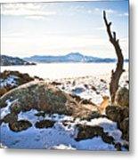 Winter's Silence - Pathfinder Reservoir - Wyoming Metal Print