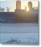 Winter's Welcome Metal Print