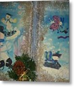 Wintertime Fun With Friends Metal Print