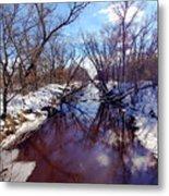 Wintertime In Necedah  Metal Print