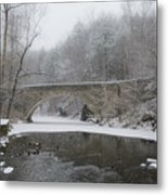 Wintertime In The Wissahickon Valley Metal Print