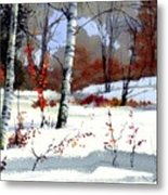 Wintertime Painting Metal Print