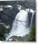 Wintertime Shahalee Falls Obscured By Branches Metal Print