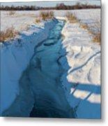 Wintery Creek Metal Print