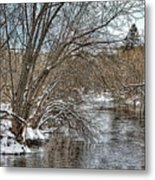 Wintery River Metal Print