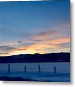 Wintery Sunrises  Metal Print