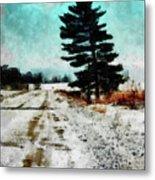Wintry Altona Road Metal Print
