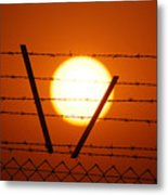Wire And Sun Metal Print