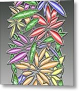 Wire Flowers Metal Print