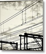 Wires And Coils Silhouette Metal Print