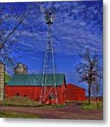Wisconsin Amish Farm Metal Print