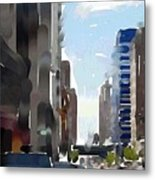 Wisconsin Ave 3 Metal Print