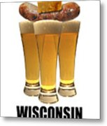 Wisconsin Food Pyramid Metal Print