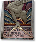 Wisdom Lords Over Rockefeller Center Metal Print