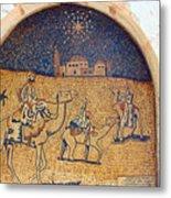 Wise Men Reaching Beit Sahour Metal Print