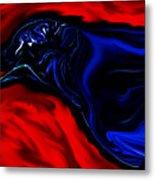 Wise Old Crow In Strange Light. Metal Print
