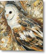 Wise Owl 4 Metal Print