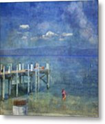 Wish You Were Here Chambers Landing Lake Tahoe Ca Metal Print