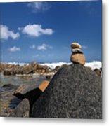 Wishing Rocks Aruba Metal Print by Amy Cicconi