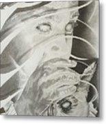 Wisper Black Ribbon Collection#2 Metal Print