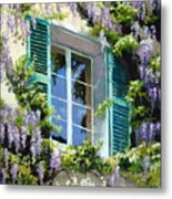Wisteria In Provence Metal Print