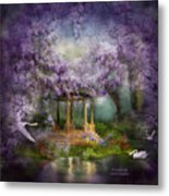 Wisteria Lake Metal Print by Carol Cavalaris
