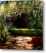 Wisteria Shadows Metal Print