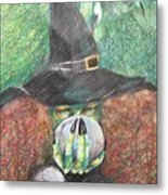 Witch In Action Metal Print by Brigitte Hintner