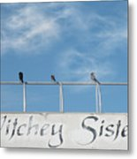 Witchey Sisters Metal Print