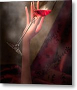 With Glass In Hand Metal Print by Tom Mc Nemar