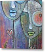 With Love On Our Wings Metal Print