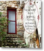 With Me - Quote Metal Print