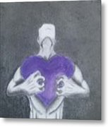 With My Heart In My Hands  Metal Print
