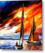 With The Wind Metal Print