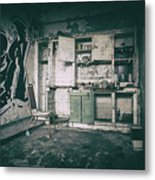 With Time It All Falls Apart Metal Print