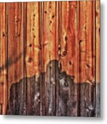 Within A Wooden Fence Metal Print