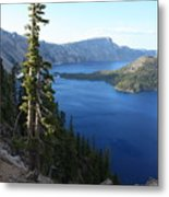 Wizard Island On Crater Lake Metal Print
