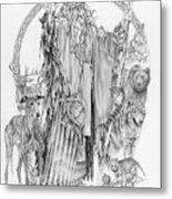 Wizard Iv - Wandering Wiseman - Pax Consensio Metal Print