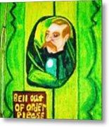 Wizard Of Oz Gate Keeper  Metal Print