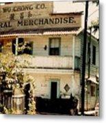 Wo Chong General Store Courtland Ca Metal Print