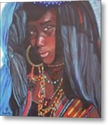 Virtuous Wodaabe Girl          From The Attitude Girls  Metal Print