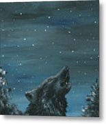 Wolf And The Stars Metal Print