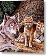 Wolf Den Metal Print